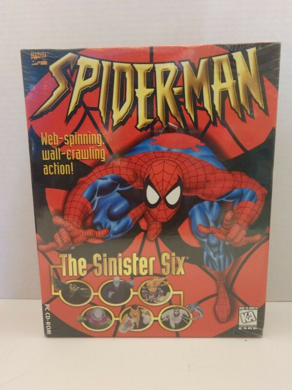 Spiderman The Sinister Six PC CD-Rom Game By Marvel Comics
