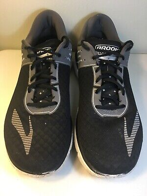 Brooks Pure Flow 6 Mens Size 10 Black Silver Running Athletic Shoes