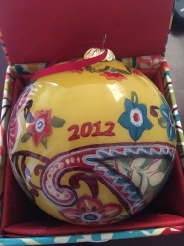 Vera Bradley Provençal Handpainted Christmas 2012 ornament ball *pre-owned*
