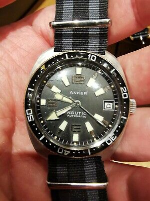 Rare Vintage Gent's Anker Nautic  Automatic Divers Watch