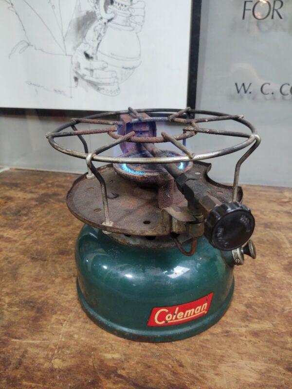 VINTAGE 1958 COLEMAN MODEL 500 SINGLE BURNER STOVE Dated 10/58 Tested Works