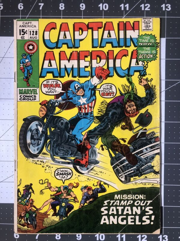 Captain America #128 BRONZE AGE FREE SHIP