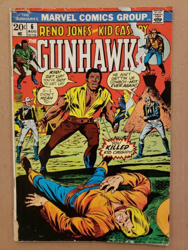 Gunhawks #6 Kid Cassidy Reno Jones Western VG