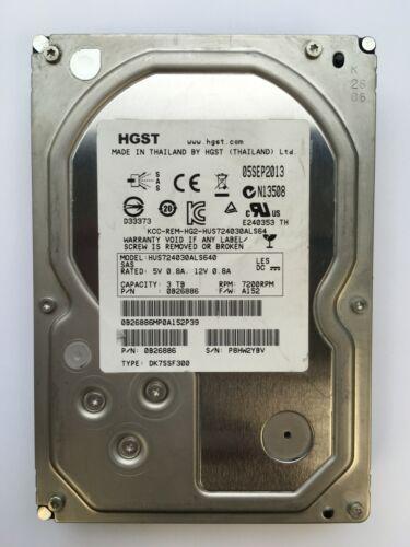 "HGST/HITACHI 3TB 7.2K 3.5"" SAS HUS724030ALS640"