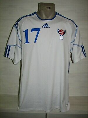 #17 FAROE ISLANDS HOME 2010-12 MATCH ISSUE SHIRT SIZE L image