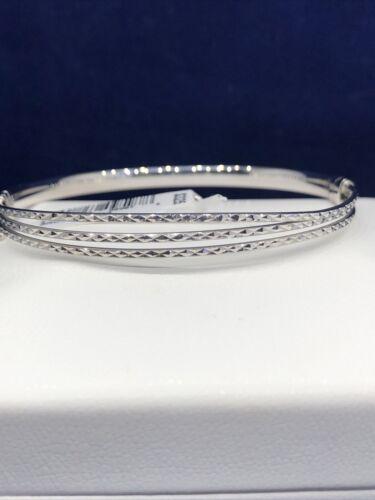 Sterling Silver 3-Row 7.5 Bangle Bracelet MSRP 325.00 - $21.50