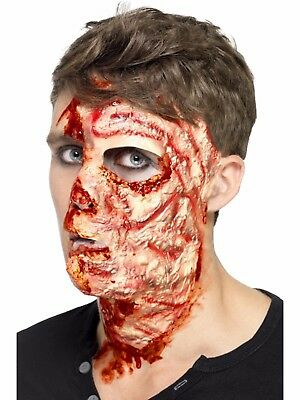 Burnt Face Halloween Fake Latex Joke Scar Fancy Dress Zombie Special FX Make Up (Halloween Make Up Latex)