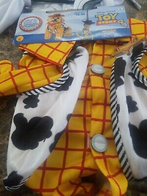 Toy Story Pet Costumes (Toy Story 4 Woody Pet Dog Halloween Costume NEW Size)