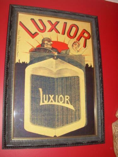 Antique Luxior Automobile Advertising Poster