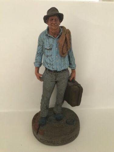 "Vintage Michael Garman ""THE TRAVELING  MAN"" Statue 13"" Tall"