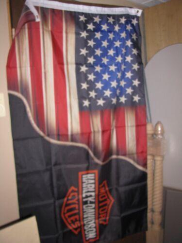 American Flag, Harley Davidson Flag, Blend together in one, 3