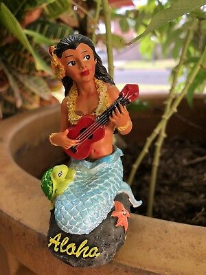 Dashboard Aloha Doll Mermaid Napua Girl Hawaiian Car Dance Polyresin 4