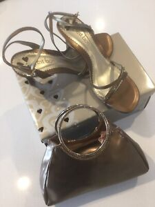 Matching shoes and evening bag