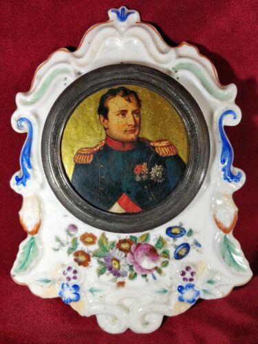 Portrait of NAPOLEON BONAPARTE in porcelain frame.