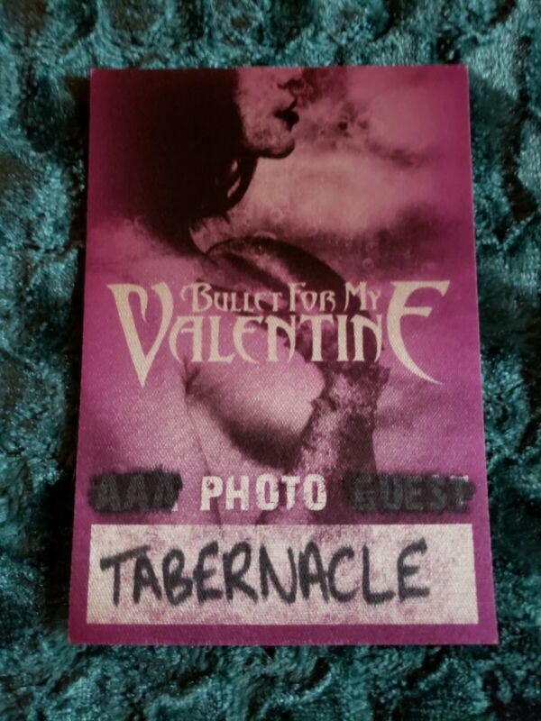 Bullet For My Valentine Photo Pass Tabernacle Atl Ga Not Used