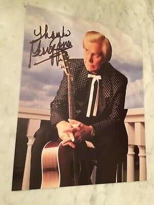 George Jones authentic autographed 8X10 Color Photo Country Music legend  @LOOK@ Country Music 8x10 Photo