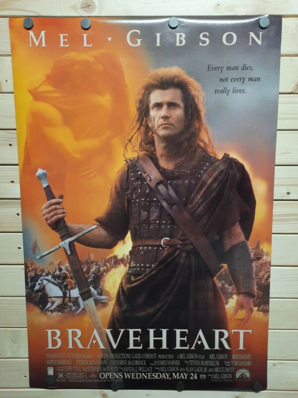 BRAVEHEART ORIGINAL MOVIE POSTER 1995   ROLLED DOUBLE-SIDED NM RARE NEW