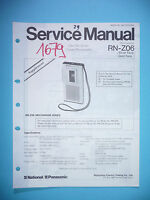 Service Manual Per Panasonic Rn-z06 ,originale - panasonic - ebay.it
