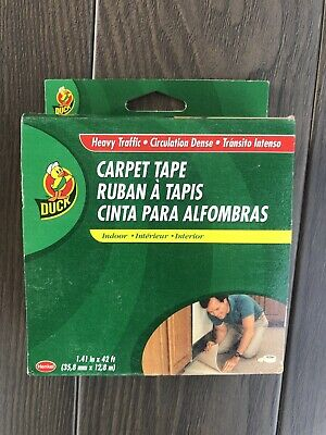 Duck White Carpet Tape Heavy Indoor Moisture Resistant 1.41 W X 42 Ft. L 286375