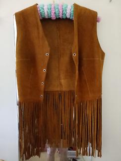 Vintage leather waist coat