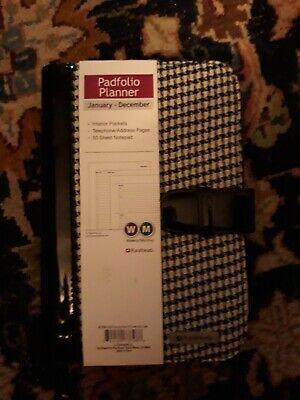 Blackwhite Business Leather Padfolio Portfolio Calculator Organizer