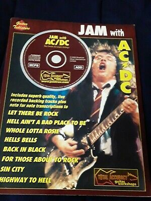 PLAY BASS WITH THE BEST OF AC//DC TAB SHEET MUSIC SONG BOOK W//CD