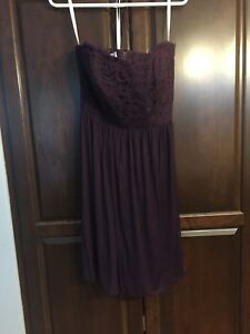 Plum Bridesmaid Dress (David's Bridal)