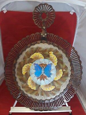 Brazil Morpho Butterfly Wing Art Decor Leather Frame 21