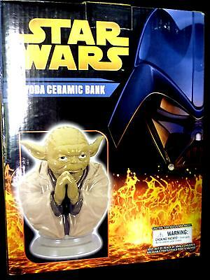 (Star Wars Comic Images Yoda Ceramic Bank Statue New From 2005 a6816)