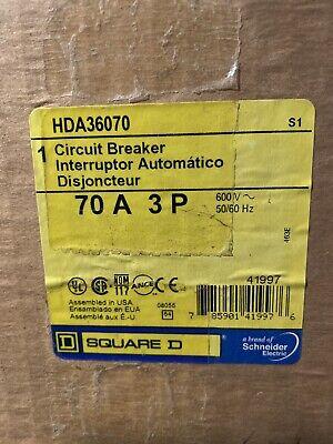 New In Box Hda36070 Square D Circuit Breaker 70 A 3 P 3 Pole