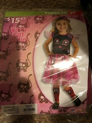 Halloween Costume Girls Kitty Cat Cutie  Size - 2t Cat Costume