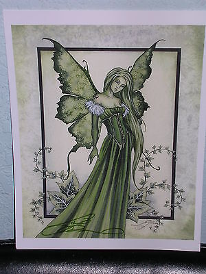 Amy Brown - Green Maiden - SIGNED - OUT OF PRINT - RARE