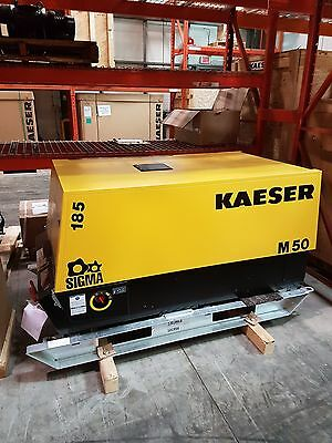 New Kaeser M50 Skid Mount- 185 Cfm Air Compressor M58 - Free Shipping
