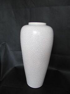 Silberdistel BODENVASE 41 cm - Craquele Fayencen - 50er Jahre