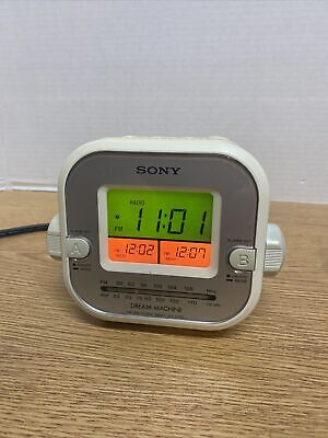 Sony Dream Machine ICF-C180 AM FM Alarm Clock Radio Snooze Sleep Nap Tested A3