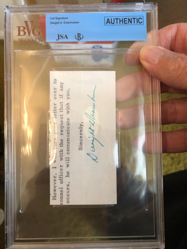 JSA 34th President Dwight D Eisenhower Authenticated And Encapsulated