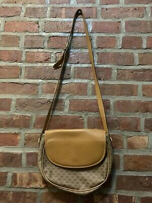 Vintage 90s Aunthentic Gucci Cross Body Purse Bag Canvas Monogram Guccisima