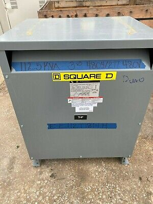 Square D Ee112t1814h 480 Primary 480277 Secondary 112.5 Kva Transformer
