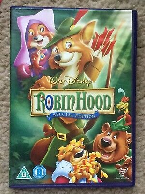 Disney Classic No. 21 Robin Hood (special Edition) DVD Gold Oval On Spine