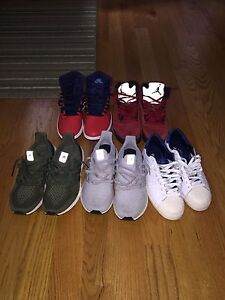 Selling ultra boost, jordans and bape/undefeated adidas