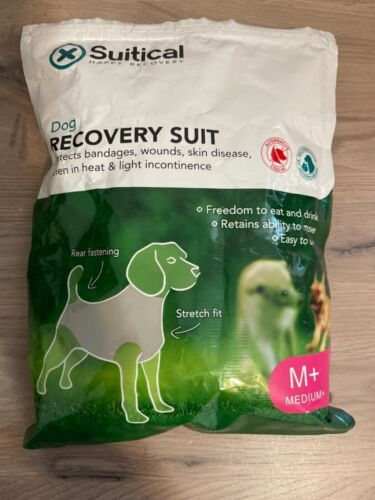 NEW SUITICAL Happy Recovery Suit Dog Medium + Pink Camo