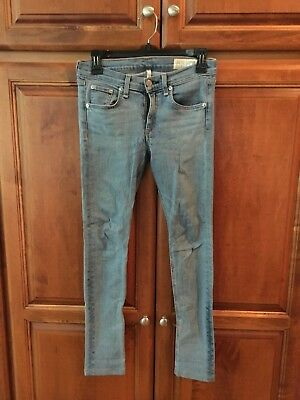 Rag & Bone La Costa Skinny Jeans Light Wash size 27