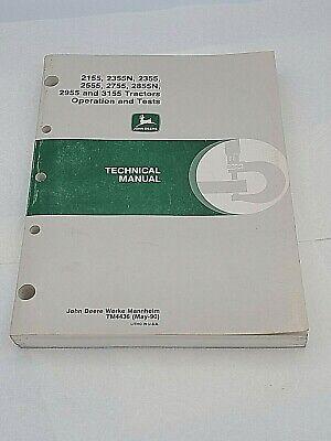 John Deere 2155 2355n 2555 2755 2855n 2955 3155 Op Test Technical Manual Tm4436
