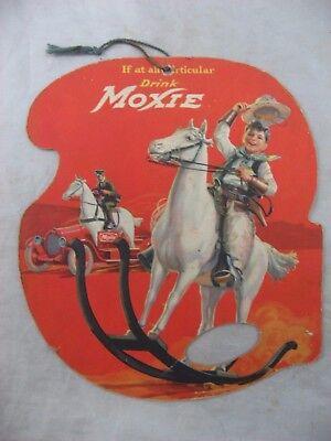 1922 Moxie Advertising Hand Fan Promo Soda Pop Rare Western T N T  Vintage