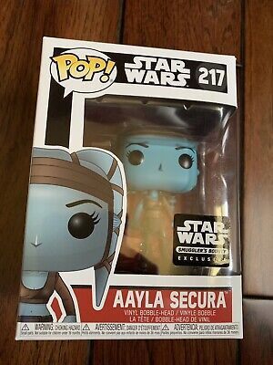 Funko POP! Star Wars - Jedi Aayla Secura #217 Smuggler's Bounty Exclusive NEW!