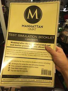 [Like New] Manhattan GMAT simulation booklet