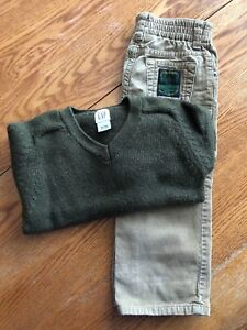 Baby GAP sweater and cords boys size 3
