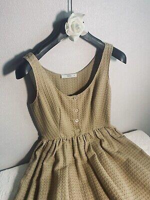 Prada Womens Wool Sleeveless Scoop Neck A-Line Midi Dress Black Size 40 Italian
