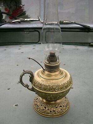 RARE NEW ROCHESTER JUNIOR (No 0) SIZE KEROSENE HAND LAMP MINIATURE OIL LAMP