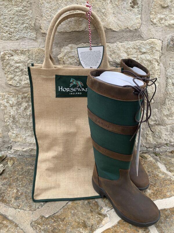 Horseware Ireland Ladies Sz 37 Rambo original pull up riding boots waterproof